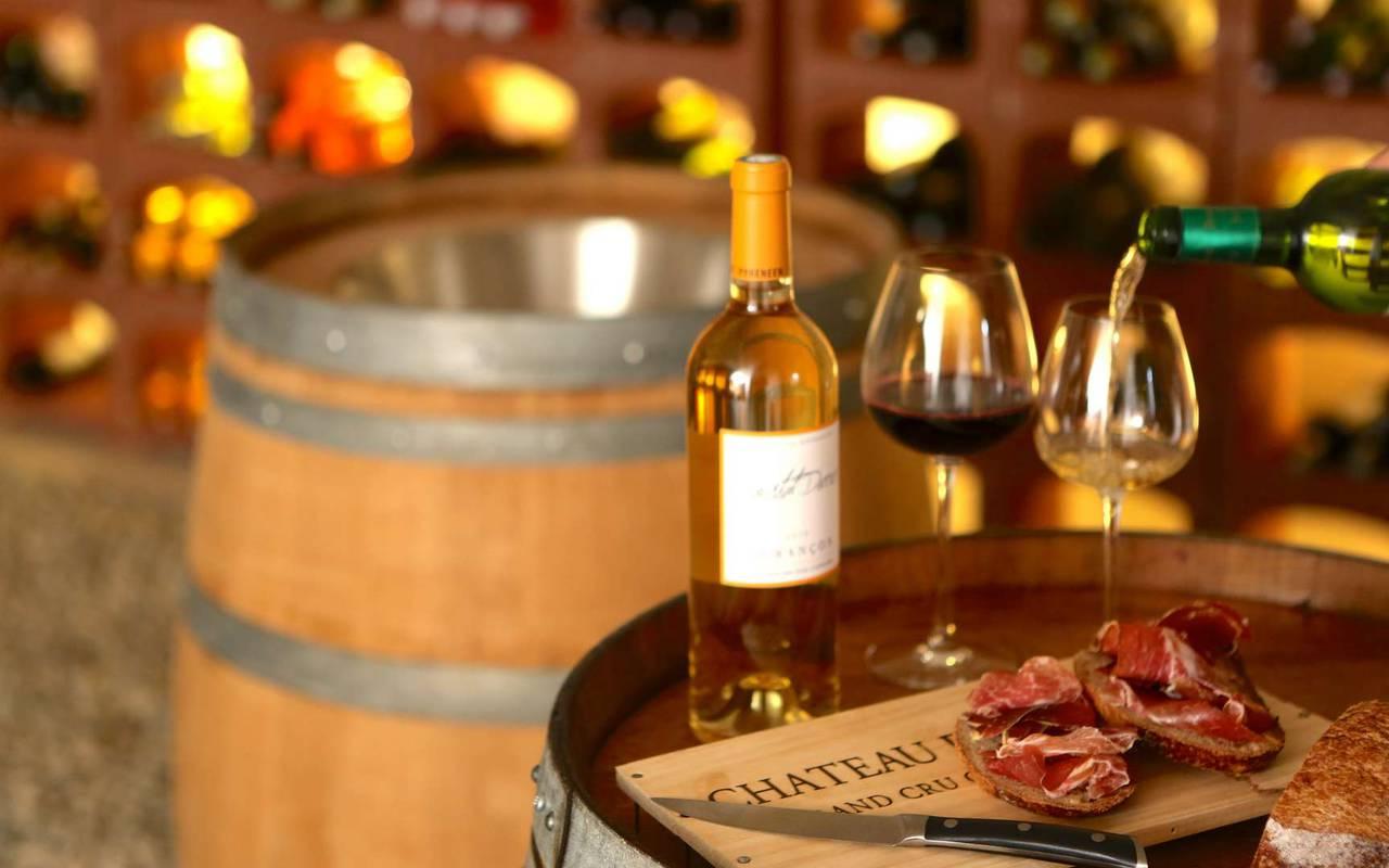 Cave à vin de l'hôtel de charme à Toulouse