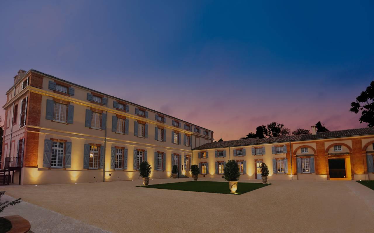 Façade du château de Drudas à Toulouse