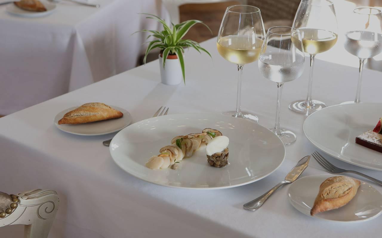 Plat du restaurant le Verdurier