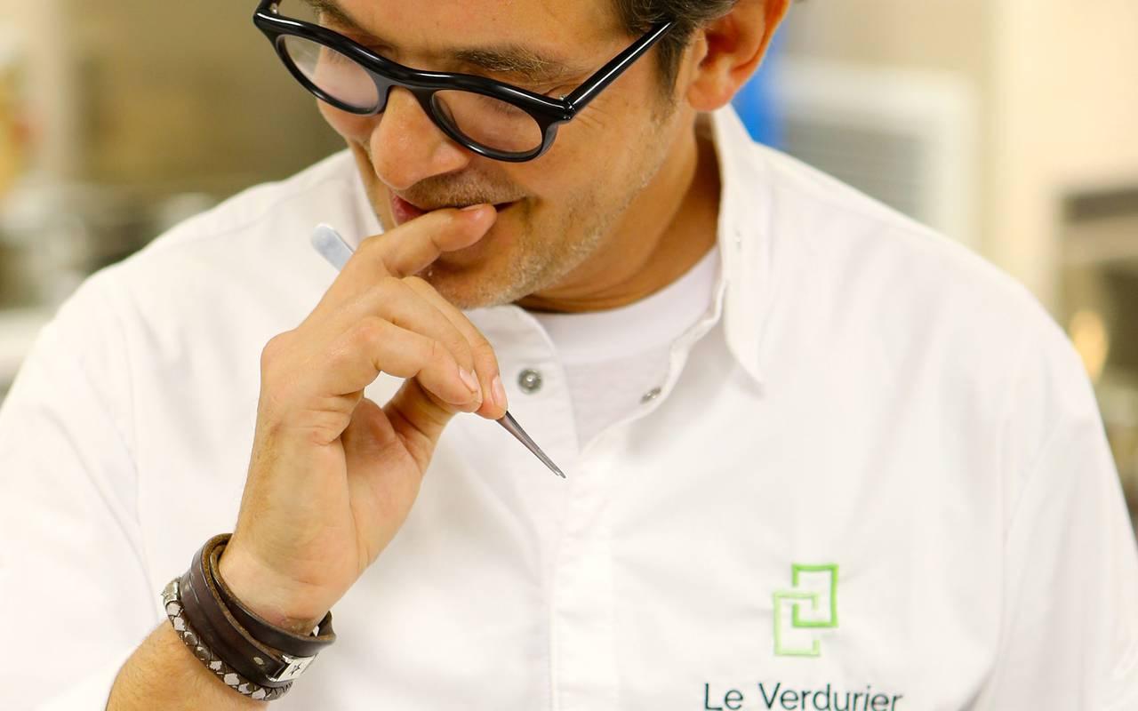 Le chef étoilé du restaurant le Verdurier