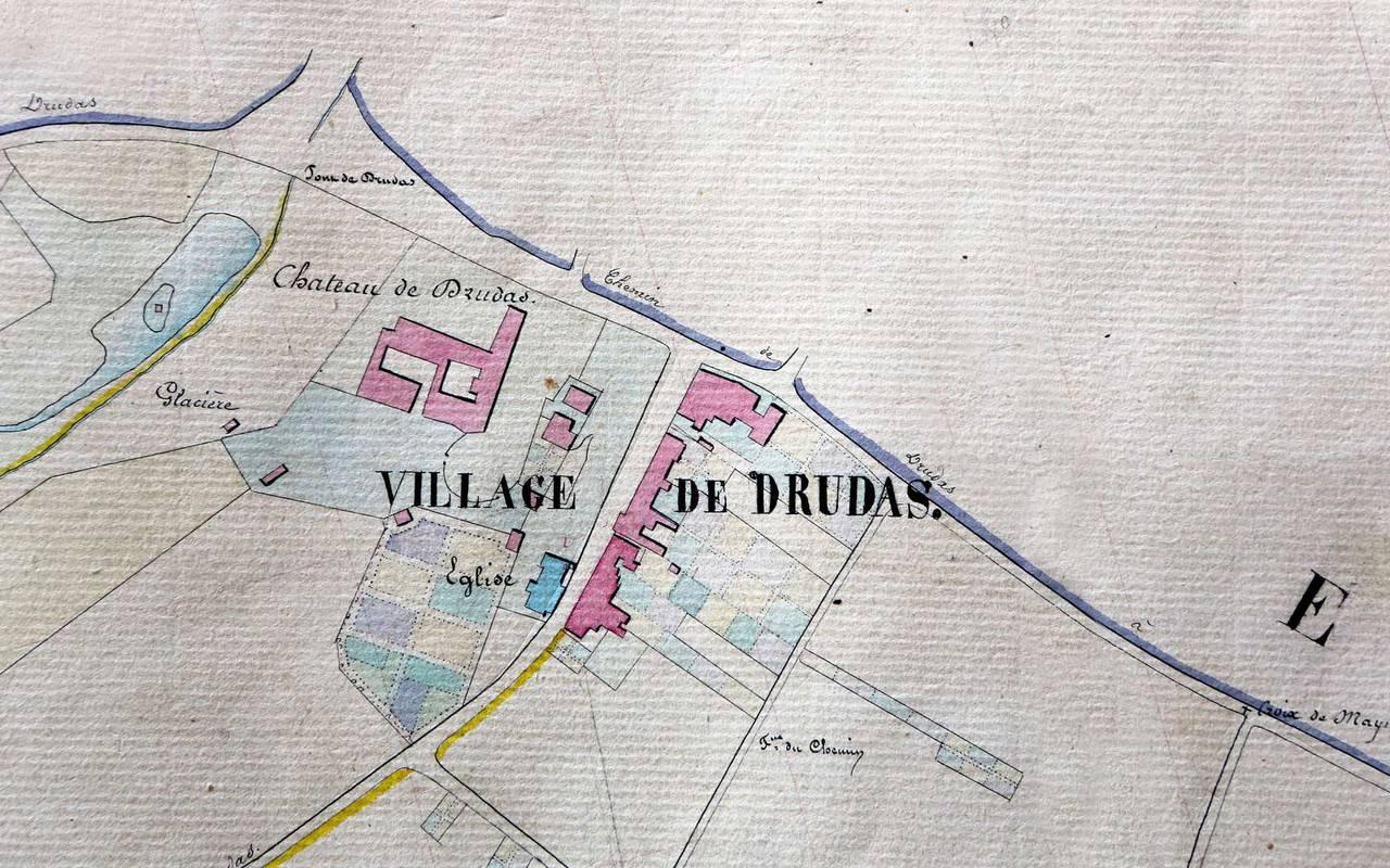 Plan du château de Drudas