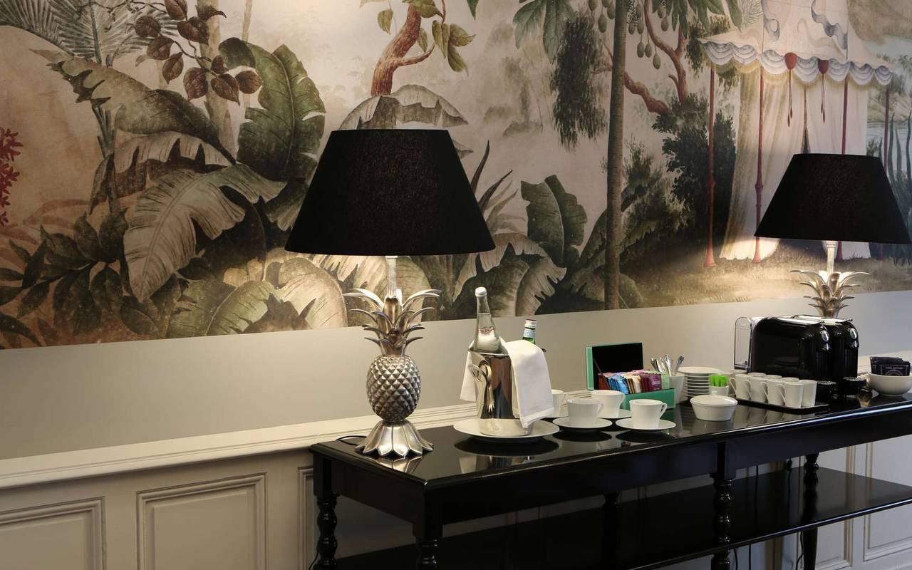 Salon de l'hôtel de charme à Toulouse