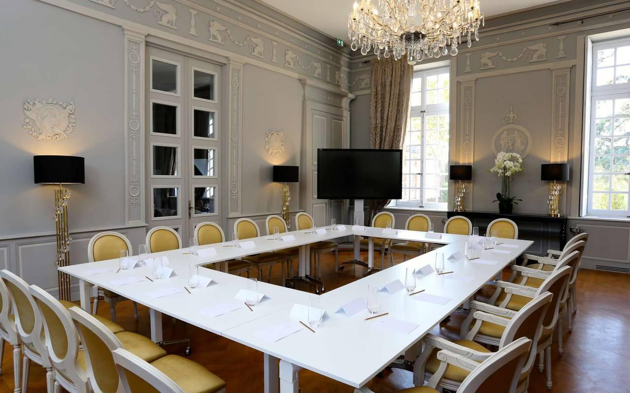 Salon du château hôtel à Toulouse