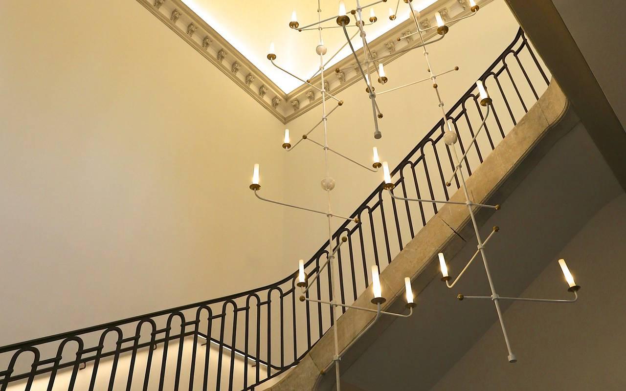 Escalier du château de Drudas