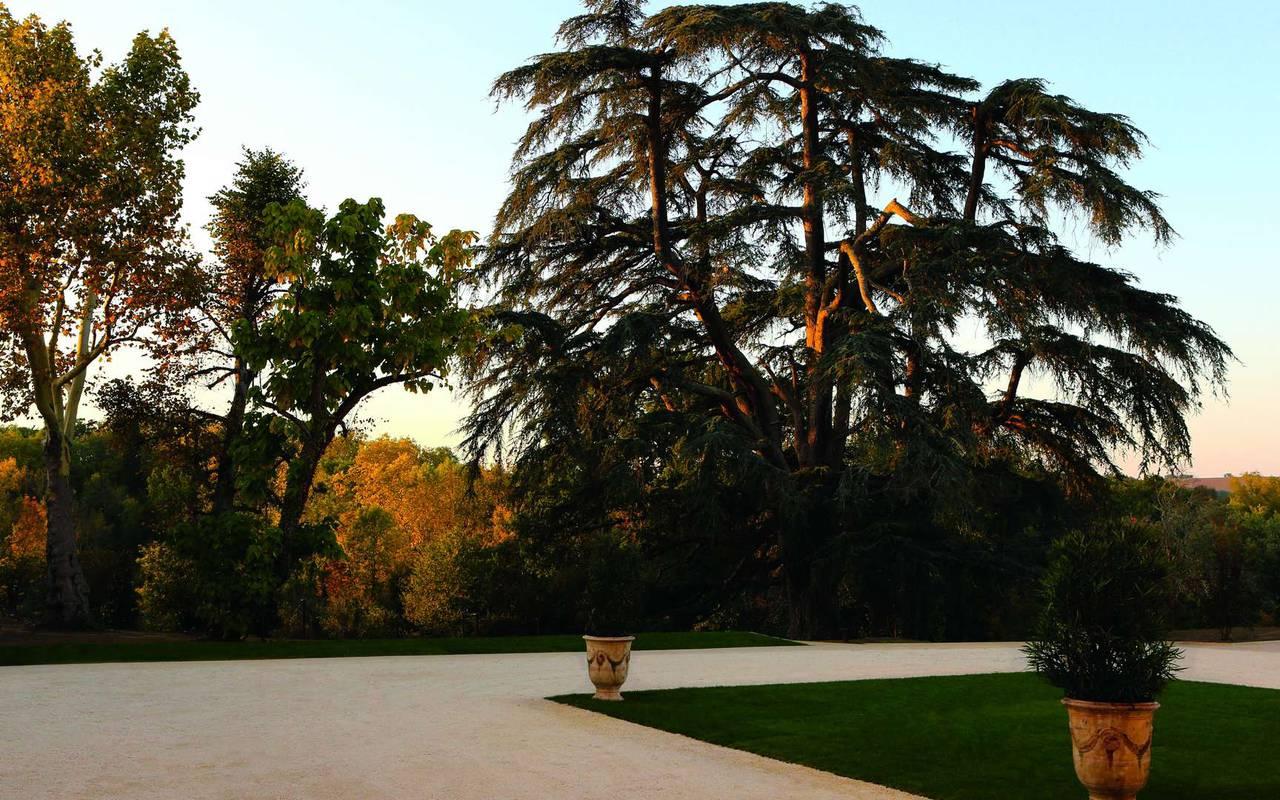 Extérieur du château hôtel à Toulouse